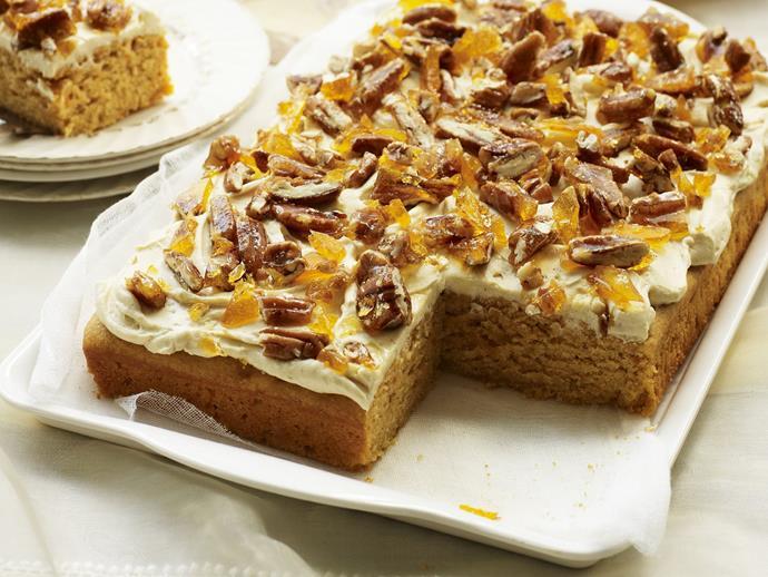 "**[Sweet potato and maple cake](https://www.womensweeklyfood.com.au/recipes/sweet-potato-and-maple-cake-3096|target=""_blank"")**"