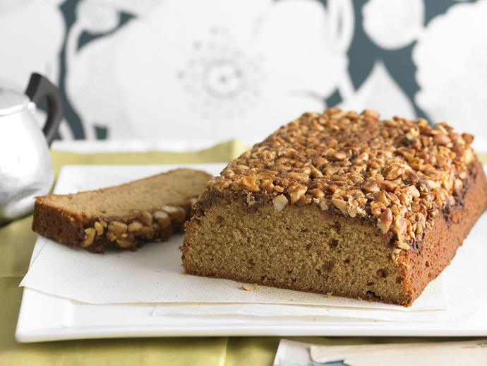 "**[Upside-down cashew and maple syrup loaf](https://www.womensweeklyfood.com.au/recipes/upside-down-cashew-and-maple-syrup-loaf-7737|target=""_blank"")**  The crunchy cashew layer turns this simple loaf, into a spectacular sweet dessert or afternoon tea snack."