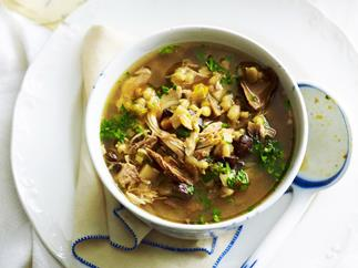 SLOW COOKER CHICKEN, PORCINI & BARLEY SOUP