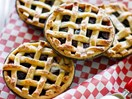 Fresh cherry pies with orange cream cheese pastry