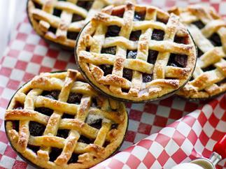 cherry  pies with orange cream Cheese  pastry