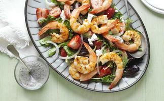 prawn, strawberry & poppy seed salad