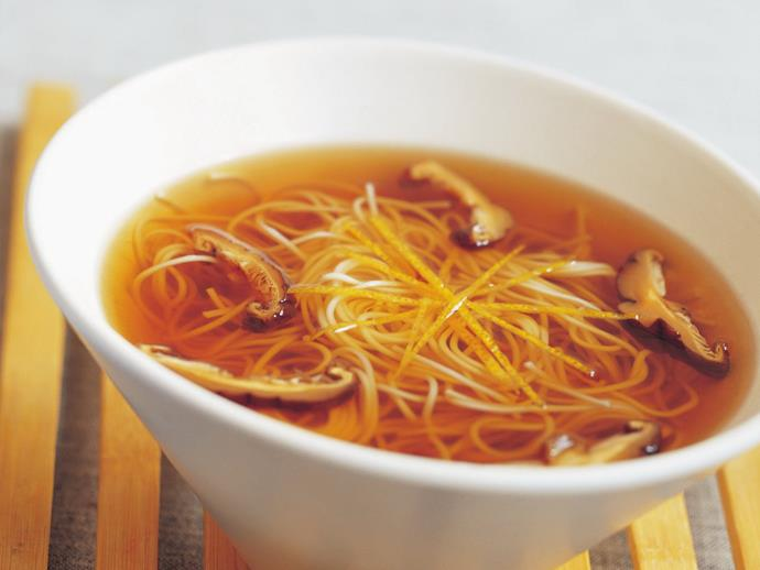 """**[Somen and dashi broth](https://www.womensweeklyfood.com.au/recipes/somen-and-dashi-broth-15302