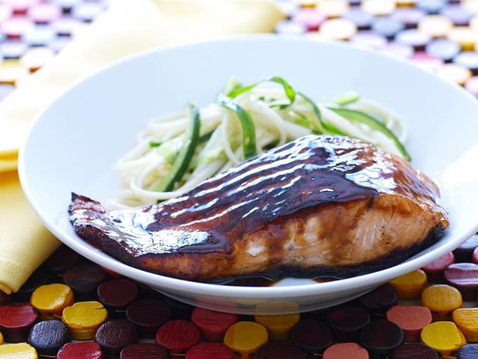 "**[Teriyaki salmon with udon salad](https://www.womensweeklyfood.com.au/recipes/teriyaki-salmon-with-udon-salad-14754|target=""_blank"")**  The sweet, savoury, sticky and thick teriyaki sauce is a staple of Japanese cuisine. It compliments chicken, fish and meats equally well. Team it with a light and fresh udon salad and you have a perfect light meal."