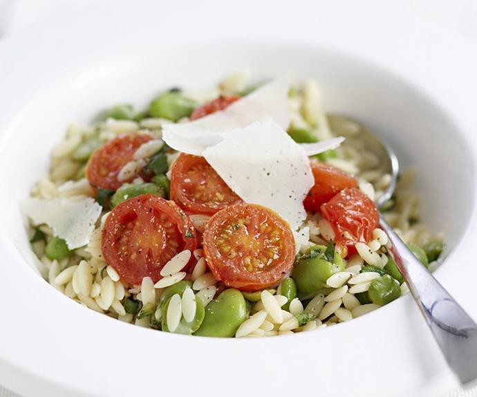 risoni & broad bean salad