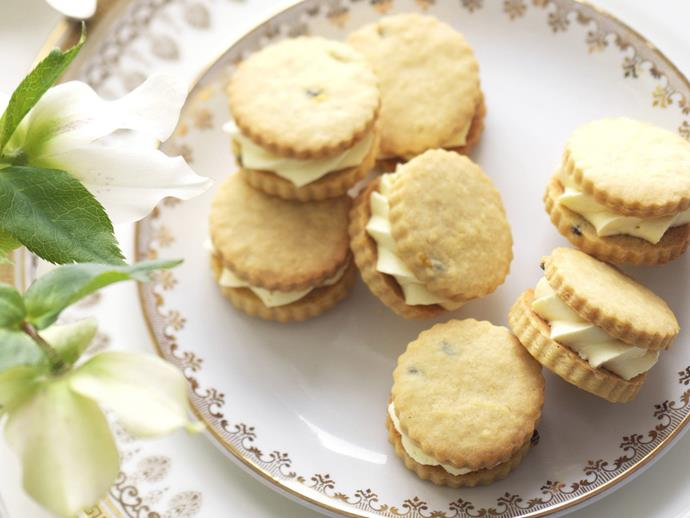 """**[Passionfruit cream biscuits](https://www.womensweeklyfood.com.au/recipes/passionfruit-cream-biscuits-15312