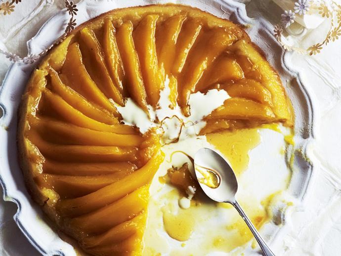"""**[Mango pan tart](https://www.womensweeklyfood.com.au/recipes/mango-pan-tart-6076 target=""""_blank"""")**"""