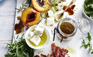 ROSEMARY GRILLED PEACH & PROSCIUTTO SALAD