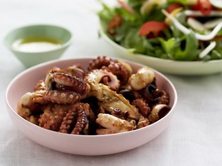 chilli, lime and ginger barbecued octopus salad