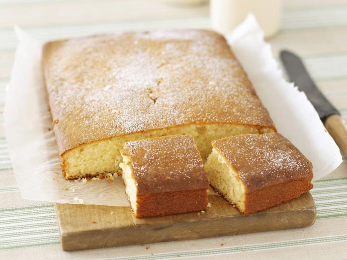 "**[Greek yoghurt cake](https://www.womensweeklyfood.com.au/recipes/greek-yoghurt-cake-14848|target=""_blank"")**"
