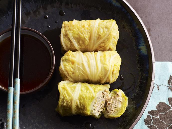 """The humble and misunderstood cabbage is put to good use with these [Japanese inspired cabbage roll](https://www.womensweeklyfood.com.au/recipes/japanese-cabbage-rolls-14852