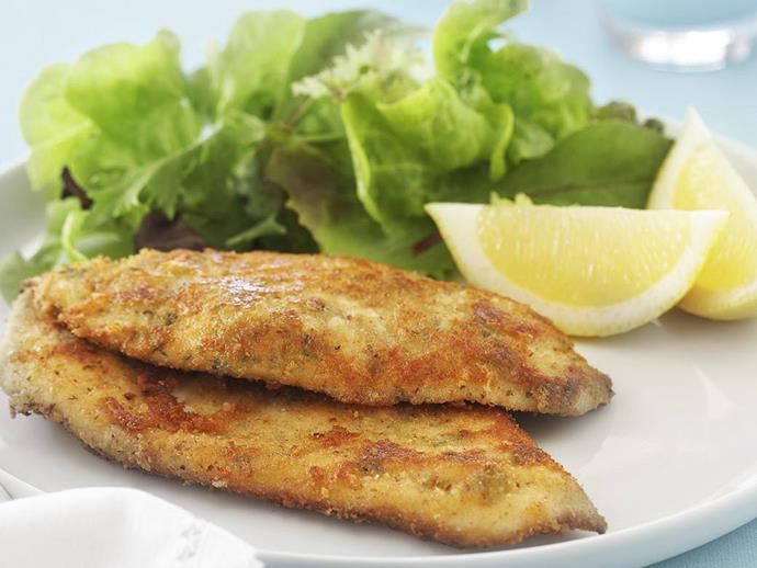 """[Italian chicken schnitzel](https://www.womensweeklyfood.com.au/recipes/italian-chicken-schnitzel-15322