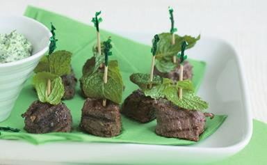 Mini lamb and mint bites