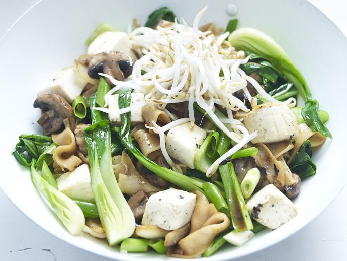 """**[Vegetable and tofu stir-fry](https://www.womensweeklyfood.com.au/recipes/vegetable-and-tofu-stir-fry-14916 target=""""_blank"""")**  Tofu, also known as bean curd, is made from crushed soya beans. It's fairly mild flavour is enhanced by the vegetables and sauce."""