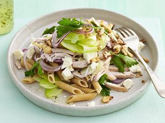 chicken, walnut and fetta pasta salad