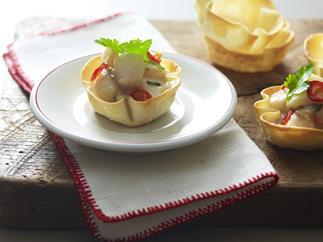thai-flavoured scallop pies