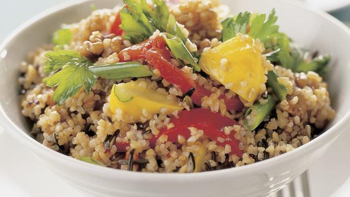 burghul and wild rice salad