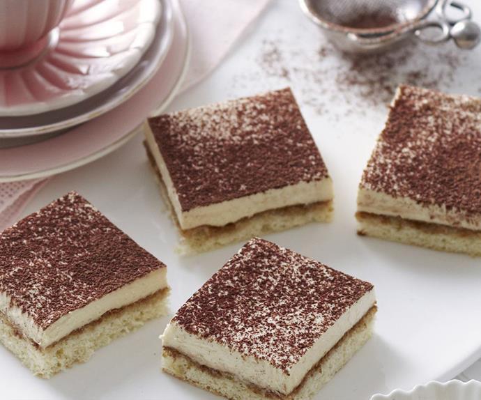 tiramisu cheesecake squares