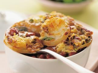 bean and potato bake