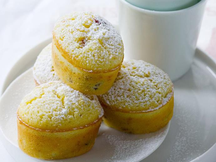 "**[Lemon and cranberry friands](https://www.womensweeklyfood.com.au/recipes/lemon-and-cranberry-friands-14446|target=""_blank"")**  These popular French cakes are light, fluffy and delicious served with a dollop of yoghurt on the side."
