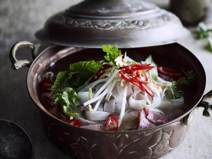 "Pho (pronounced 'fur') is a [traditional Vietnamese noodle soup](https://www.womensweeklyfood.com.au/recipes/pho-bo-6234|target=""_blank"") that relies on its slow-cooked, fragrantly spiced broth for maximum flavour."