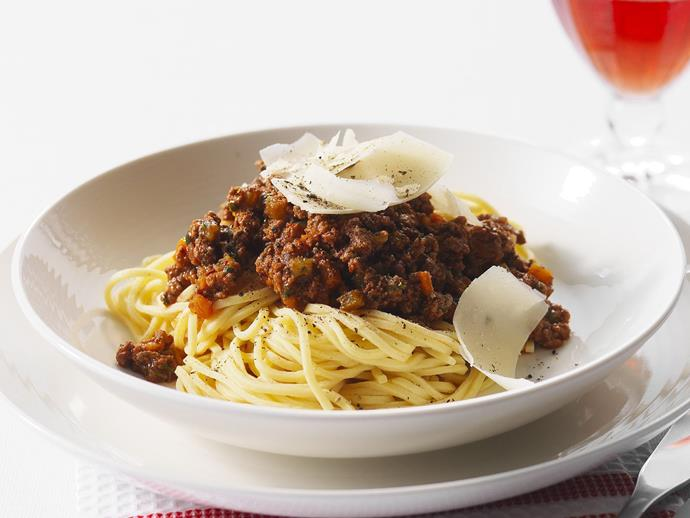 """**[Bolognese sauce](https://www.womensweeklyfood.com.au/recipes/bolognese-sauce-14459