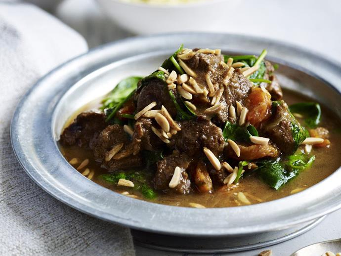 """**[Lamb and apricot tagine](https://www.womensweeklyfood.com.au/recipes/lamb-and-apricot-tagine-14487