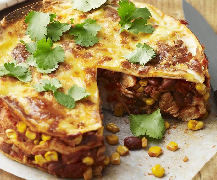 mexican chicken tortilla bake