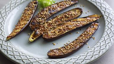 Grilled eggplant with miso