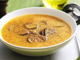coconut, pumpkin and eggplant soup