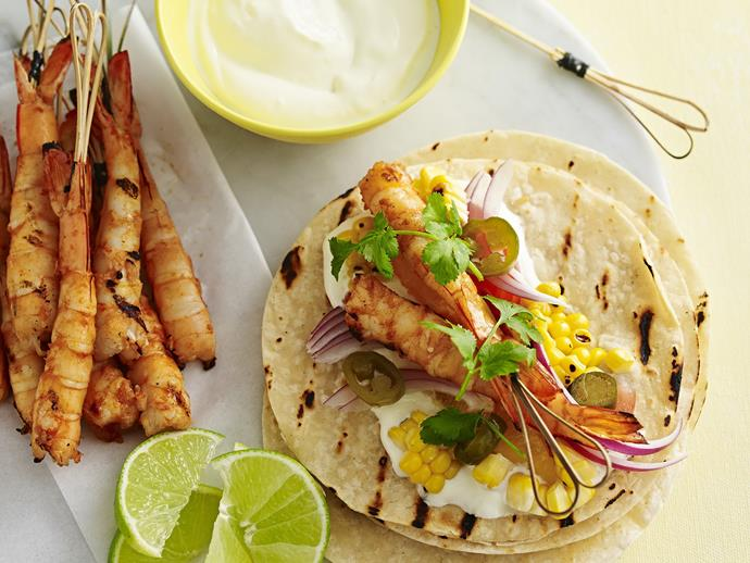 "**[Smoky orange prawn tacos](http://www.womensweeklyfood.com.au/recipes/smoky-orange-prawn-tacos-14068|target=""_blank""):** You can use lime in place of the oranges here if you prefer. For a bit more of a kick, serve with a tablespoon of your favourite hot chilli sauce."