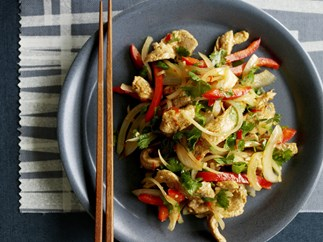 capsicum, chilli and hoisin chicken