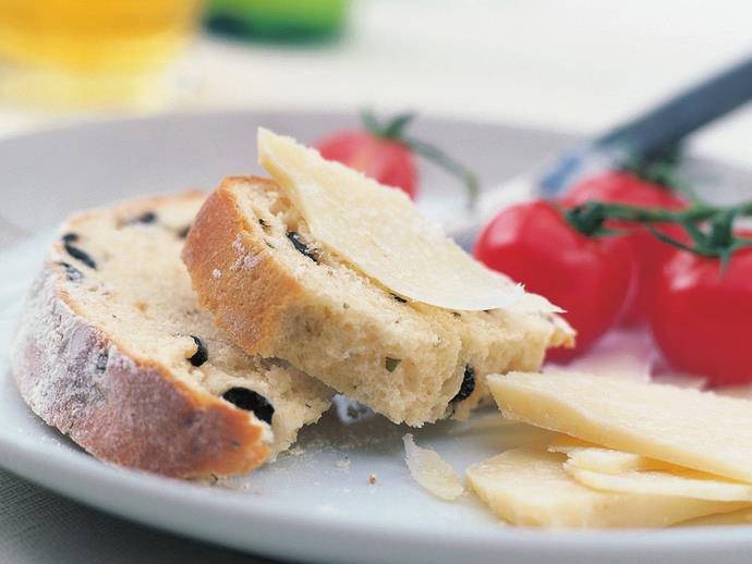 "**[Olive bread with oregano](https://www.womensweeklyfood.com.au/recipes/olive-bread-with-oregano-14085|target=""_blank"")**"