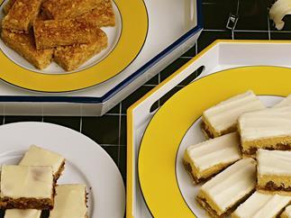 Cornflake honey slice