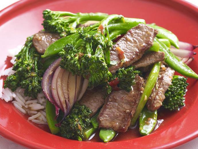"""**[Lamb with broccolini](https://www.womensweeklyfood.com.au/recipes/lamb-with-broccolini-14107