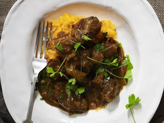 """**[Beef and horseradish stew with kumara potato mash](https://www.womensweeklyfood.com.au/recipes/beef-and-horseradish-stew-with-kumara-potato-mash-14123