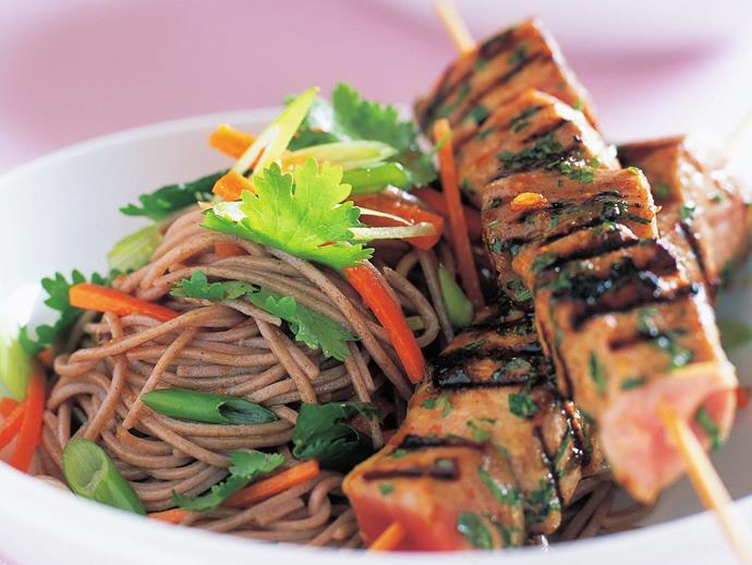 "**[Tuna skewers](https://www.womensweeklyfood.com.au/recipes/tuna-skewers-14127|target=""_blank"")**"