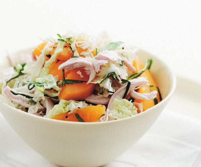 chicken and peach salad
