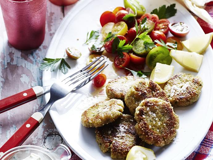 "**[Quinoa falafel with green tahini](http://www.womensweeklyfood.com.au/recipes/quinoa-falafel-with-green-tahini-14147|target=""_blank""):** This healthy Lebanese-inspired falafel platter is best served with a summery heirloom tomato salad and pita breads."