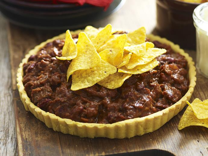 "[Mexican beef and bean pie](https://www.womensweeklyfood.com.au/recipes/mexican-beef-and-bean-pie-5947|target=""_blank"")"