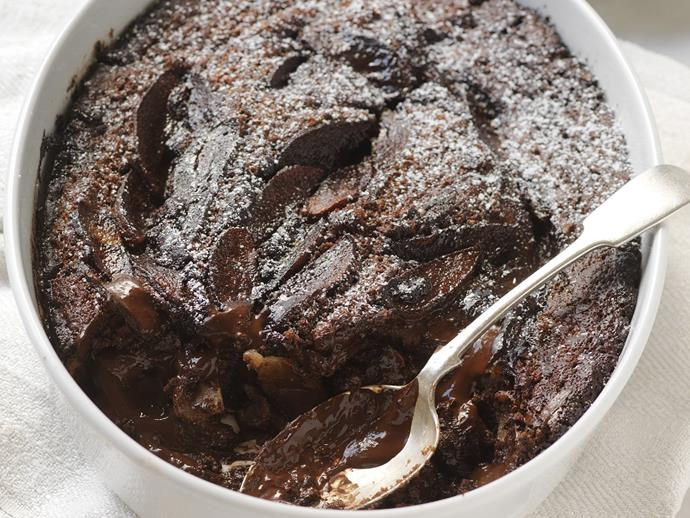 "**[Chocolate, pear and hazelnut self-saucing pudding](https://www.womensweeklyfood.com.au/recipes/chocolate-pear-and-hazelnut-self-saucing-pudding-14178|target=""_blank"")**"