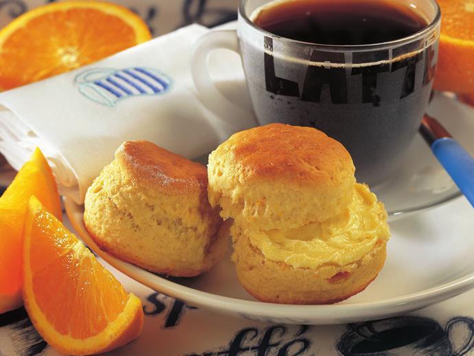 "**[Cardamom marmalade scones](https://www.womensweeklyfood.com.au/recipes/cardamom-marmalade-scones-14281 target=""_blank"")**"