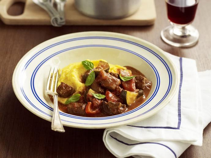"**[Slow-cooked italian beef casserole](https://www.womensweeklyfood.com.au/recipes/slow-cooked-italian-beef-casserole-5988|target=""_blank"")**  A rich, warming and filling slowcooked Italian beef casserole"