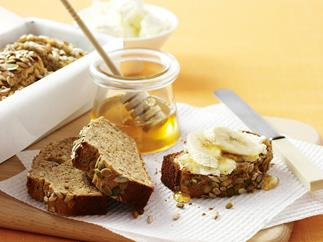 Banana bread with seeds
