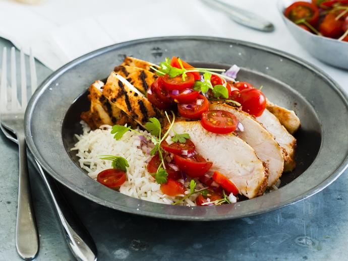 "**[Tandoori chicken](http://www.womensweeklyfood.com.au/recipes/tandoori-chicken-14314|target=""_blank"")**"