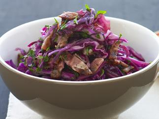 WARM RED CABBAGE & BACON SALAD