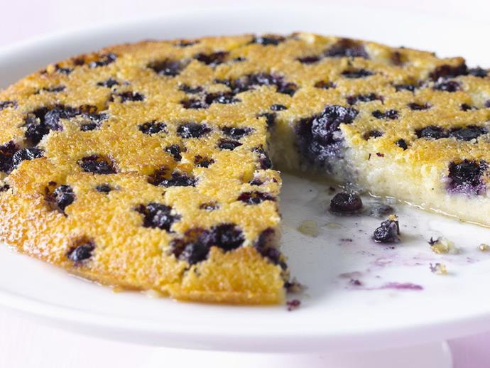 """**[Blueberry impossible pie](https://www.womensweeklyfood.com.au/recipes/blueberry-impossible-pie-13747