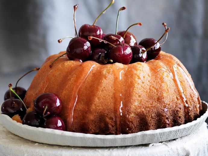 "**[Lemon ricotta semolina cake with cherry syrup](https://www.womensweeklyfood.com.au/recipes/lemon-ricotta-semolina-cake-with-cherry-syrup-6023|target=""_blank"")**"