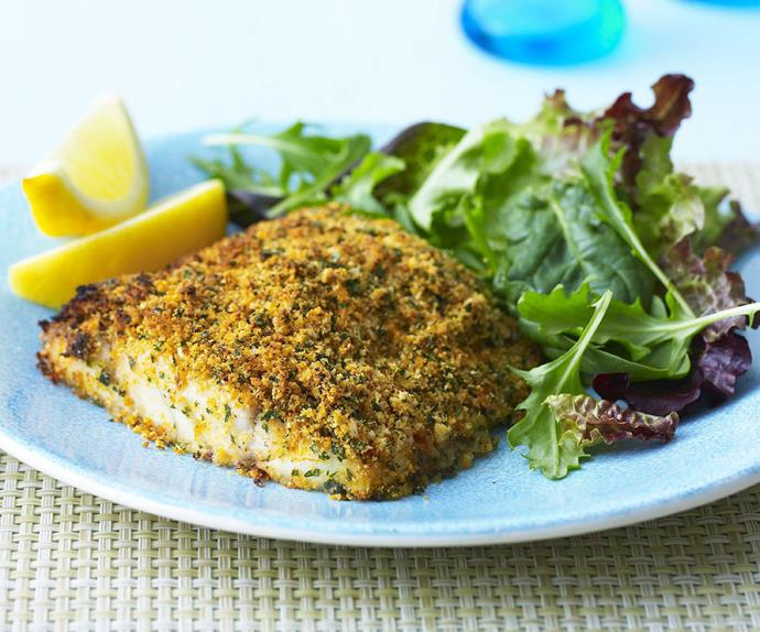 Chermoulla-crusted fish