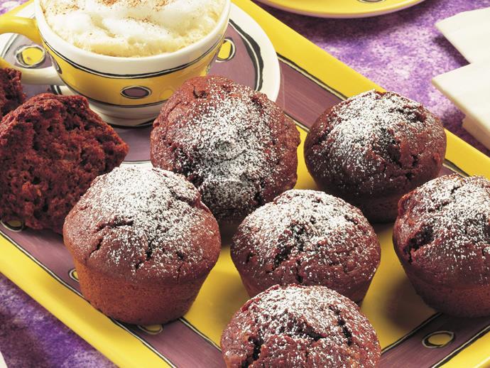 "**[Chocolate beetroot muffins](https://www.womensweeklyfood.com.au/recipes/chocolate-beetroot-muffins-13796|target=""_blank"")**"